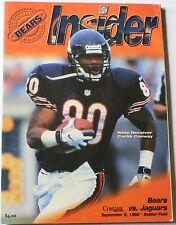 1998 Chicago Bears vs. Jacksonville Jaguars Program Curtis Conway Cover