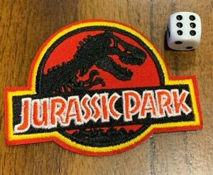 Jurassic Park Logo Iron-on Embroidered Hard Rock Band Patch #88