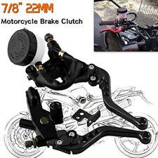 """Universal Black Motorcycle 7/8""""Brake Clutch Levers Master Cylinder Reservoir Set"""
