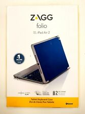 Case Keyboard  iPad Air 2 ZAGG Ultra Thin Hinged  Lightweight Bluetooth Blue