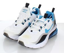 K2 $125 Youth's Sz 7 Y Nike Air Max 270 React GS Sneaker In White /Blue