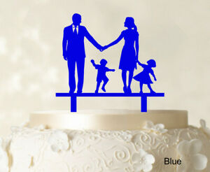 Wedding Cake Topper Family Bride And Groom With Child-17I