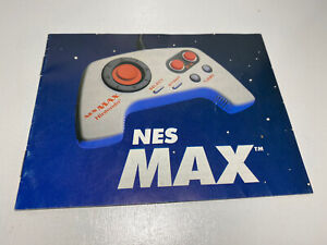 NES MAX Controller Nintendo Original Instruction Manual Booklet Only