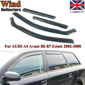 Wind Deflectors For AUDI A4 B6 B7 Avant Estate 5doors 02-09 4-pc Magickit Tinted