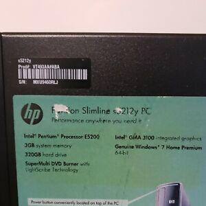 HP Pavilion Slimline s5212y Penton E5200 320GB HDD 3GB RAM Windows 7