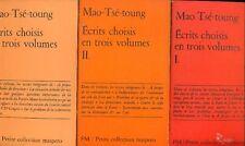 TSE-TOUNG Mao, Ecrits choisis en trois volumes. Maspero 1969