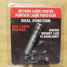 Key Ring Laser Pointer Bright Red Led Power Point Flashlight Pet Toy