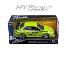 JADA 1:24 FAST AND FURIOUS MITSUBISHI LANCER EVOLUTION VII DIE-CAST GREEN 99788