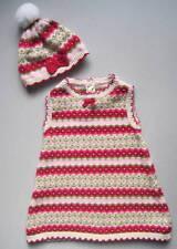 Gymboree BUNNIES SNOW CUTE Girls 12 18 Mo Pink Fair Isle Dress & Hat EUC