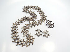 Silver Articulated Belt Earrings Ring Vtg Victoria Taxco Ana Brilanti Sterling
