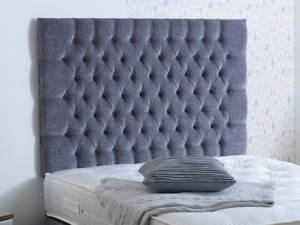 """40"""" inch chesterfield CHENILLE WALL Headboard with MATCHING FABRIC BUTTON CHEAP"""