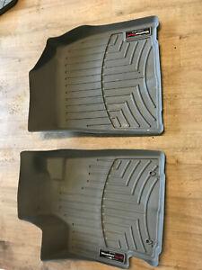 WeatherTech FloorLiner Toyota Highlander 2008-2013 front grey floor mats