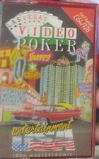 Video POKER Mastertronic (87) Commodore c64 CASSETTA (Tape, BOX, MANUAL) 100% OK