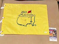Adam Scott signed 2013 Masters Tournament Winner PGA Tour Golf Flag JSA