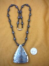 """(v807) 2-1/4"""" Rare EXTINCT Fossil Siberian Woolly Mammoth TOOTH pendant necklace"""