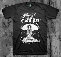 FINAL CONFLICT 'Death' T shirt (Discharge Ratos Dr.Know Toxic Narcotic)