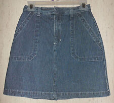 EXCELLENT WOMENS Gloria Vanderbilt RAILROAD PINSTRIPE DENIM SKORT  SIZE 4