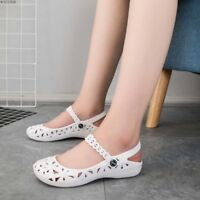 2018 Womens Summer Slip On Hollow Out Flats Sandals Beach Shoes Close Toe