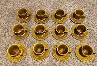 Set of 12 Homer Laughlin Coventry CASTILIAN Coffee Tea Mugs Cups Saucers