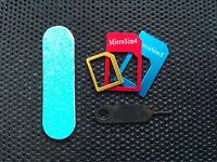 Universal Metall Nano Micro Sim Karten Adapter Set  / Handy Smartphone Tablet