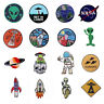 Embroidered Iron Sew On Patches transfers badges appliques Alien UFO earth Lots