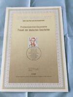 Ersttagsblatt der Deutschen Bundespost: 6/1989 Frauen der deutschen Geschichte