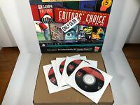 Sierra PC Gamers Editors Choice Collection Caesar II Rama Cart Racing PC RARE