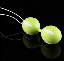 Public Green Kegel Exercise Duo Geisha Vaginal Muscle Tightening Rolling 2 Balls