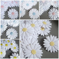 Big APPLIQUES daisies flowers satin cotton hairband sewing cardmaking crafts