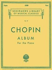 CHOPIN ALBUM FOR THE PIANO - PIANO SOLO SONGBOOK 50252290