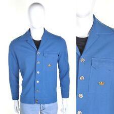 ADIDAS Vintage 60s/70s Wool Jacket M Buttoning Mod Trefoil Tracksuit Cardigan 19