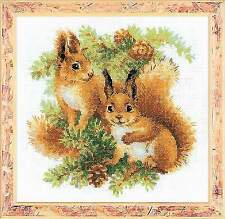Counted Cross Stitch Kit RIOLIS - SQUIRRELS