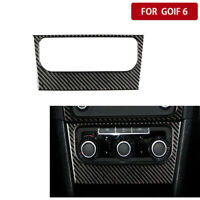 Real Carbon Fiber Interior AC Control Panel Trim For VW Golf 6 Gti R MK6 2008-12