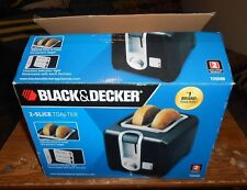 black and decker #T2569B 2 slice extra wide toaster in the box new