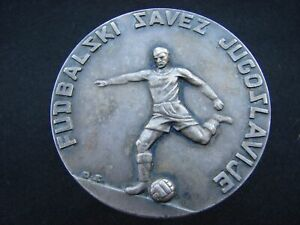 RARE Soccer Federation of Yugoslavia plaque medal marked Jugoslavija SFRJ