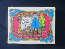 ** Vintage Barbie Double Doll MOD WARDROBE Mattel CARRYING CASE WHITE