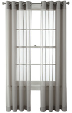 "NEW Studio by JCP Kramer Grommet Curtain Panel PAIR Steeple Gray 50"" x 108"""