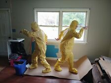 10 Dupont Tyvek Hazmat Coverall Suit With Seamless Boots 2xl Xx Large Yellow 10