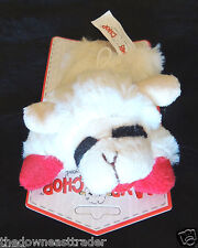 "6"" Mini Lamb Chop White Soft Plush Squeak Fetch Dog Toy Lambchop Multipet New"
