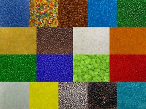 50g glass seed beads - Frosted, size 8/0 (approx 3mm) - choice of colours