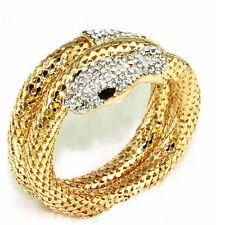New Punk Crystal Rhinestone Curved Snake Upper Arm Cuff Bracelet Armlet Jewelry