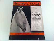Electrical Dealer May 1936 Business Magazine Advertising Art Deco Selling Tips