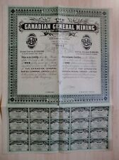 CANADA: The Canadian General Mining Company Limited Montreal (1 Share) + Coupons