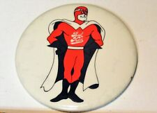 Vintage Budweiser Beer Man Pin Back Button Original Very Good Condition!