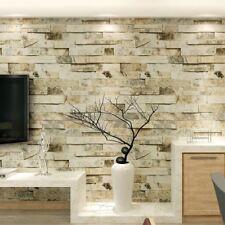 HANMERO Textured Vinyl 3D WALLPAPER Imitation Brick Stone GREY Feature Wall