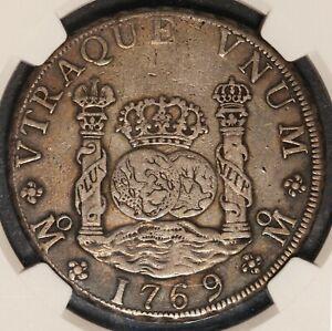 1769 Mo Mexico Pillar 8 Reales Silver Coin - NGC XF 40 - KM# 105