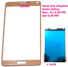 Samsung Galaxy Note 4 Front Touch Screen Outer Glass Note4 N910F Gold +Adhesive