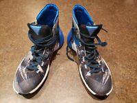 NIKE Hyperdunk 2015 Men's Blue Black Gray Basketball Shoes Sz 11.5 #749567-140