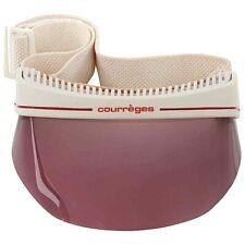 Courreges c.1970's Purple White Signature Logo Ski Face Shield Visor Hat Goggles