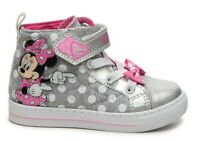 GIRLS SNEAKER HIGH TOP SHOES DISNEY JUNIORS MINNIE DOTS LIGHT UP SIZE 9 YOUTH